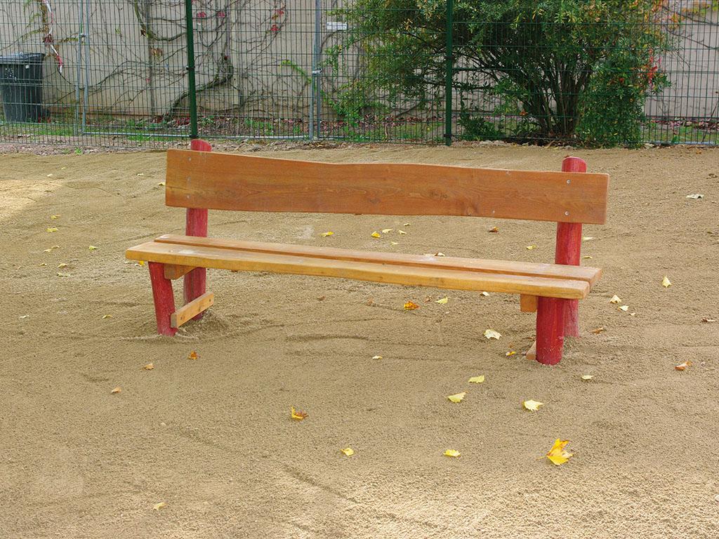 einfache Sitzbank Robinie